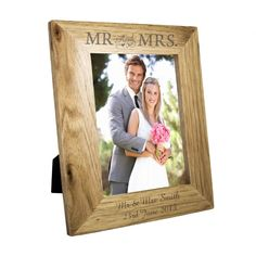 Personalise this 5x7 Mr Mrs Frame with any message over 2 lines and upto 20 characters per line The personalisation will feature on the bottom of the