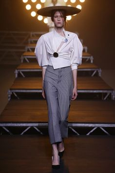 JACQUEMUS SUMMER 2017 SHOW. A new take on the 'office shirt' - we just love this  collection at Aloe Forever.