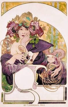 Fotogalerie: K výstavě Alfons Mucha Moravské galerie Brno - Chocolat Ideál Art Nouveau Mucha, Alphonse Mucha Art, Art Nouveau Poster, Art And Illustration, Design Art Nouveau, Jugendstil Design, Inspiration Art, Art Vintage, Kunst Poster