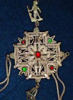 Traditional Bulgarian pendant. A men's juwel. 19th c. (Národní muzeum).