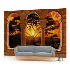 VLIES-FOTOTAPETE-FOTOTAPETEN-WANDBILD-BILD-TAPETE-770VEVE-Sonnenuntergang-Afrika