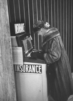 Here's a machine selling air insurance at Newark Airport. | 15 Weird Vending Machines Of The '60s