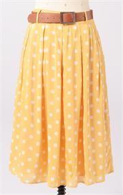 Modbe Clothing - Skirts. Love the yellow polka dots!!