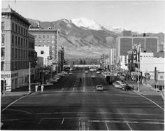 Downtown No Antlers Hotel Colorado Springs 1964