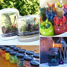"20 Things to Do With All Those Leftover Glass Baby Food Jars.... pinning this for the ""bug jar"".. ""sugar scrub"".. and ""play dough"" jar ideas"