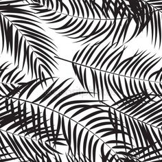 Download - Beautifil Palm Tree Leaf Silhouette Seamless Pattern Background — Stock Illustration #142503671