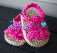 Crochet Baby Pattern Sandals by PatternMa on Etsy, $5.00