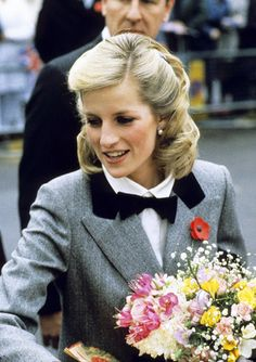 Princess Diana in a new hairstyle in November 1984 (after Harry's birth) that created much fuss
