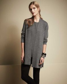 Eileen Fisher Washable Crepe Icon Cardigan and Long Tank