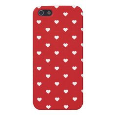 Red Cute Girly Hearts iPhone 5 Case from www.sweetzoeshop.com