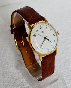 Men's Vintage Watch Gold-plated 1960s Collectibles by bestLuba
