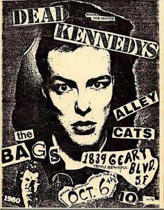 Dead Kennedys concert poster. #punkflyers #punkconcertposters