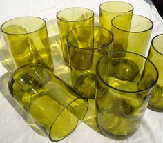 Upcycled Wine Bottle Glasses made from by ConversationGlass, $56.00