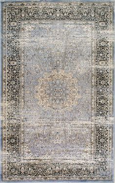 Check out the detail in this Rugs USA Arabella MM07 Floral Mosaic Medallion Rug!