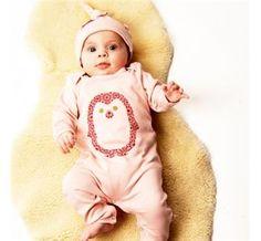 Powder Pink Penguin Onesie Babygrow  #baby #fairtrade #ethical #onesie