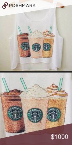 COMING SOON! Starbucks Crop Top 💕Size XS/S cropped top *coffee fanatics* Will be available in the next week! Item price is $30, will be 3 available. Let me know if you want me to tag you💕 boutique item, won't find in stores! soooooooo cute! *brand tagged for visibility only Urban Outfitters Tops Crop Tops
