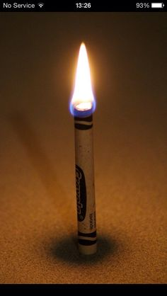 In an Emergency A Crayon Can Burn For 30 Minutes