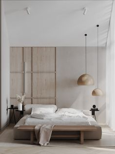Floor Design, Bed Design, House Design, Home Interior Design, Interior Architecture, Simple Interior, Home Bedroom, Bedroom Decor, Bedrooms
