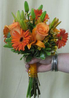 All Orange Bridesmaid bouquet