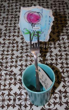 fork garden marker