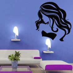 Wall Stickers Murals, Vinyl Wall Decals, Wall Murals, Decoration, Art Decor, Room Decor, Salon Style, Salon Design, Paint Designs