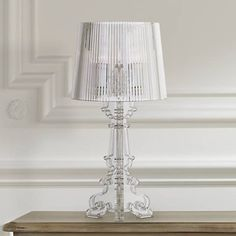 Baroque Clear Acrylic Accent Table Lamp