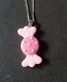 Sweet Treats Resin Pendant Necklace - Pink