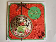 Pyramid Christmas card raindeer - Pyramide kerstkaart rendier