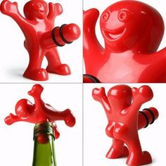 Have fun using this funny man wine stopper, amuse yourself and your guests. Measures 3.15 inch x 2.56 inch x 2.99 inch (L*W*H) in red.     SRP $7.99  OUR PRICE   $4.99 FREE SHIPPING NOVV5V105