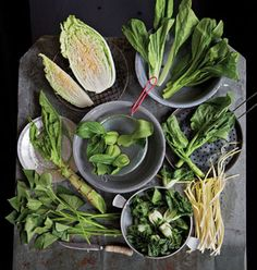 From delicately-flavored bok choy to peppery mizuna, many of the varieties of greens found in markets across Asia have become common in the States. Try these 9 varieties braised, pickled, simmered in soups and added to stir-fries and salads. See our guide to Asian greens »