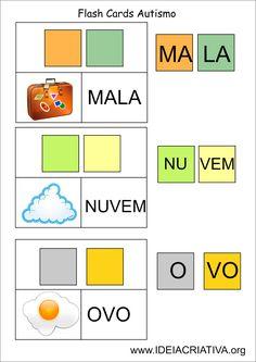 Ideia Criativa - Gi Barbosa Educação Infantil: Flash Cards Letra Sílaba Autismo