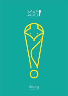 """Doping team put an objective to create series of thematic social posters with the main message """"Save animals"""". International Days, Social Advertising, Pet Day, Poster Series, Word Design, Animal Posters, Save Animals, Original Wallpaper, Animals Of The World"""