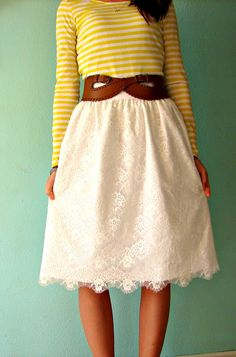 Beautiful DIY lace skirt tutorial. |Pinned from PinTo for iPad|