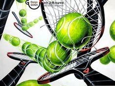 Korean Art, Graffiti, Layout, Concept, Fine Art, Drawings, Tennis, Composition, Illustrations