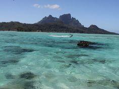 Matira Point, Bora Bora. What a kitespot...