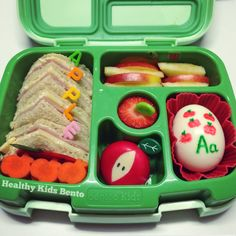 My bentgo lunches. Healthy apple lunch in the bentgo kids. Healthy kids bento on Facebook is where I post our lunches every day