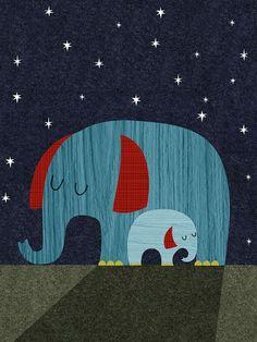 Retro Animals - Elephant