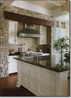 Big dreams for my future home.... Definitely want stone in the kitchen as well.