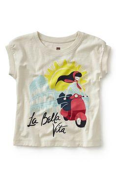 'La Bella Vita' Graphic Tee (Toddler Girls, Little Girls & Big Girls)