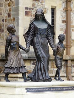 """""""Mary MacKillop and Children""""  Bronze 2009"""