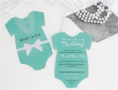 Tiffany Themed Baby Shower Invitations | ... Breakfast at Tiffanys Baby Shower Invitation For Girls (Printable