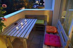 DIY Pallet Balcony Furniture