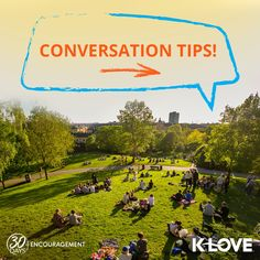 """We have a big challenge for you today: take a risk and have lunch with someone sitting by themselves! 🍽 We know what you're thinking, """"But what do I say?!""""   Here are some conversation topics to help you love on those around you!"""