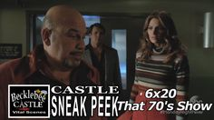 """Castle 6x20 Sneak Peek #3 """"That 70's Show"""" Castle & Beckett Lanie Mob Boss Morgue Scene"""