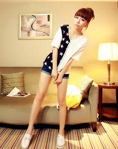 [qz059] เสื้อผ้าแฟชั่น Pre Order เสื้อยืดเกาหลี คอวีผ้าฝ้าย | SoMoreMore.Com