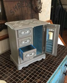 Upcycled Vintage Hand Painted Jewelry Box // Gift Idea Reclaimed Jewelry Chest by ByeByBirdieDesigns on Etsy https://www.etsy.com/listing/244184072/upcycled-vintage-hand-painted-jewelry