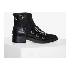 Matisse Turner Buckle Boot ($74) ❤ liked on Polyvore featuring shoes, boots, ankle booties, black, black ankle boots, short boots, mid heel ankle boots, black boots and bootie boots