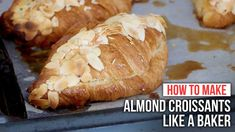 How to Make ALMOND CROISSANTS like a Baker - YouTube Almond Croissant, Croissant Recipe, Croissants, Orange Zest Cake, Oatmeal Flour, Pizza Chef, Biscuit Bread, Almond Cream, Ginger Cookies