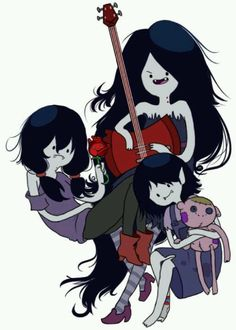 growing up by membrillita Adventure Time Style, Adventure Time Tattoo, Adventure Time Marceline, Vampire Queen, What Time Is, Bubbline, Anime Art, Horror, Animation