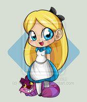 Disney Chibi Alice by *RuthMcGleish on deviantART